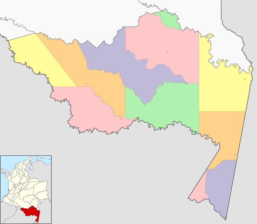 mapa amazonas colombia