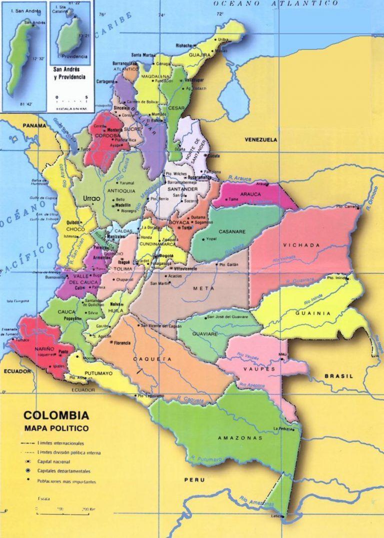 departamentos de colombia mapa de colombia descargar departamentos y capitales de colombia