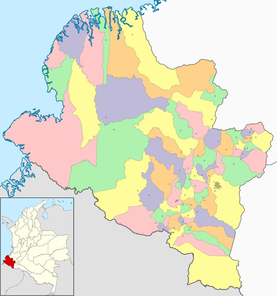 mapa nariño colombia