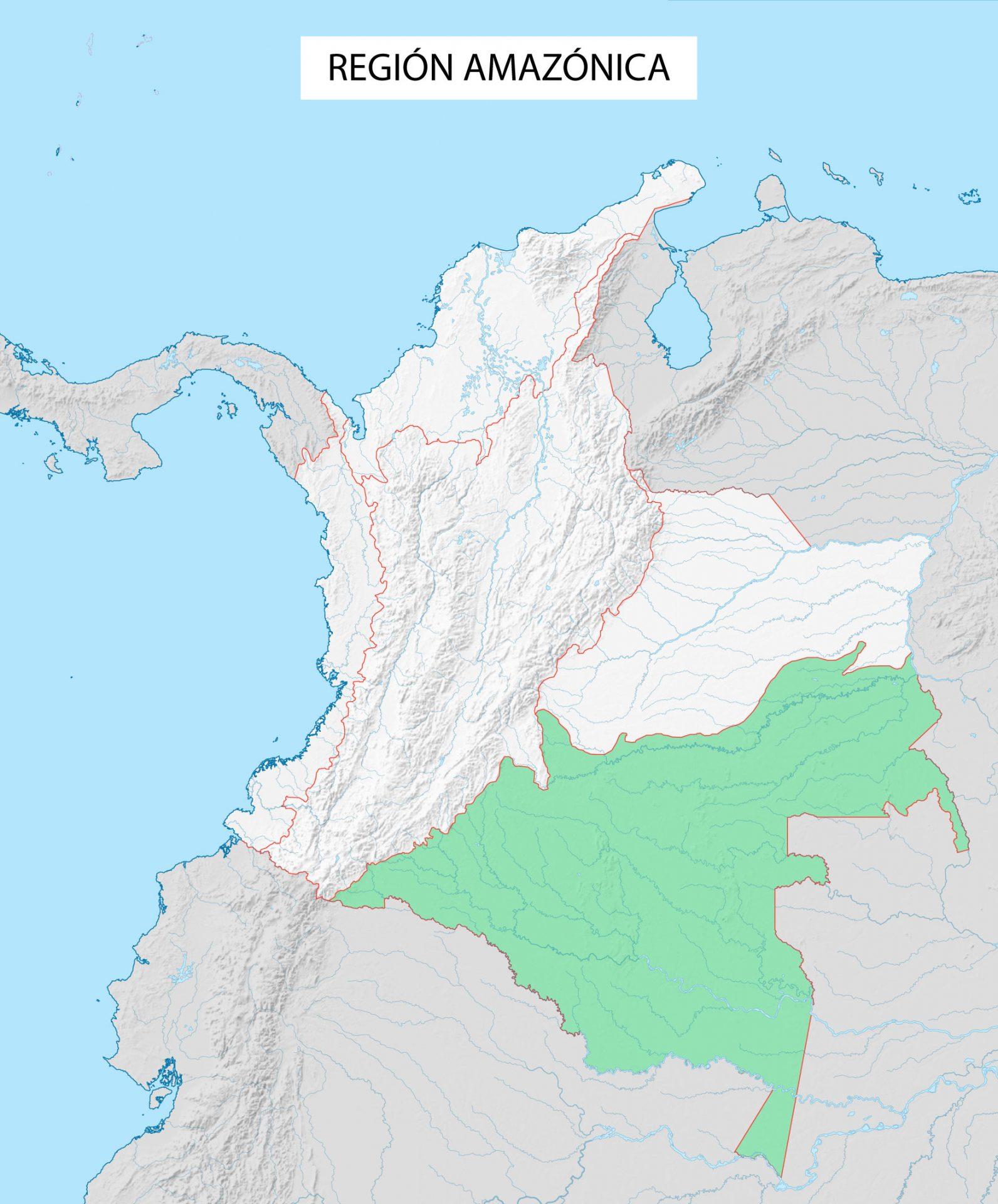 región amazónica amazonia colombia region amazonica