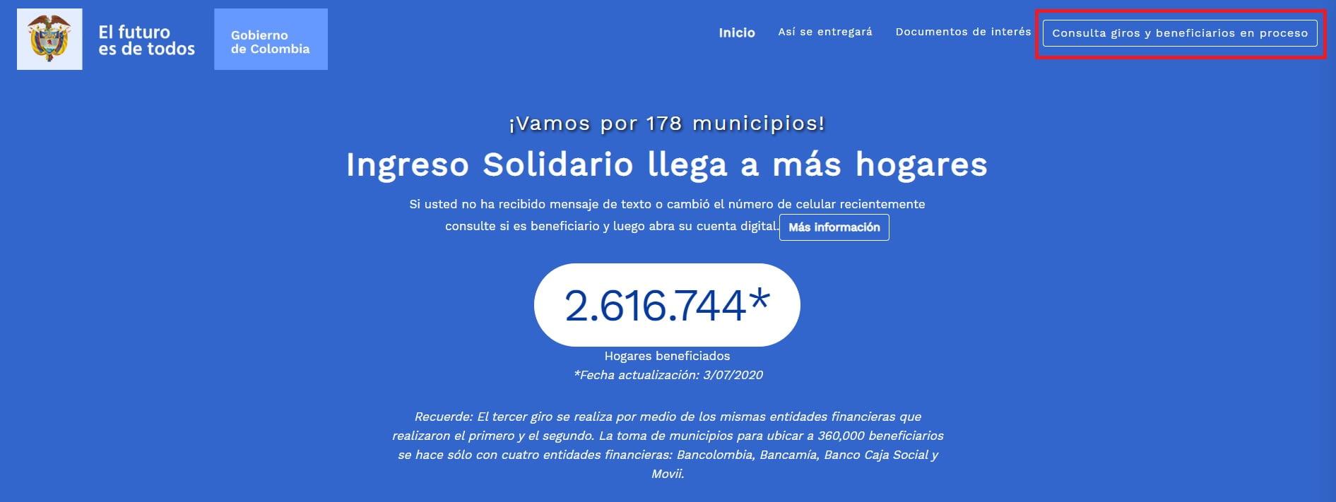 consultar ingreso solidario prosperidad social colombia